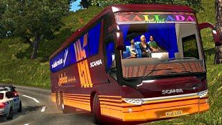 Kallada Scania Metrolink | Euro truck simulator 2 | Kallada travels bus driving | ETS2