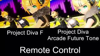 Project Diva Remote Control PV Comparison PS3 Arcade Future Tone
