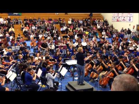 Local 6th grade Orchestra Jamboree at Harrison High School in Kennesaw Ga.