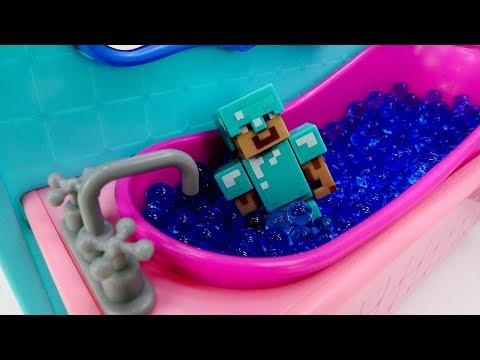 Делаем Ванную для Стива Minecraft. Как строить в Майнкрафт ?
