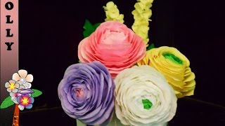 How to make paper flowers : Ranunculus