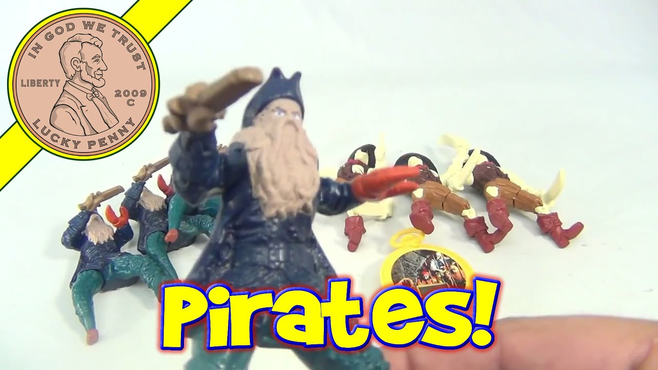 Pirates Of The Caribbean Toys : Mcdonald s happy meal toys lot of disney pirates