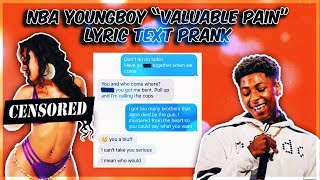 Nba Youngboy 34 Valuable Pain 34 Text Prank On Ex Girlfriend