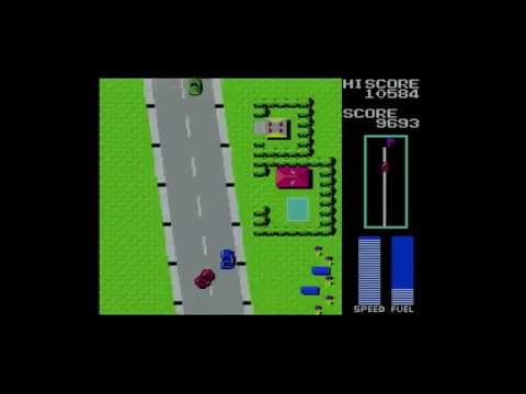 Road Fighter   MSX gameplay