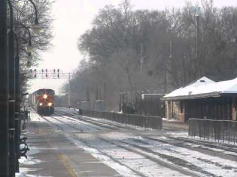 "Locations: On the BNSF ""racetrack"" main line, near the Harlem Avenue grade crossing, Delaplaine Road grade crossing, and Riverside Metra station in the histo..."