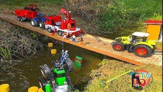 BRUDER TOYS Traktor Crash Deutz Agrofron He fell from a bridge