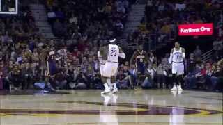 LeBron James Serves Sweet NoLook Dish to Irving