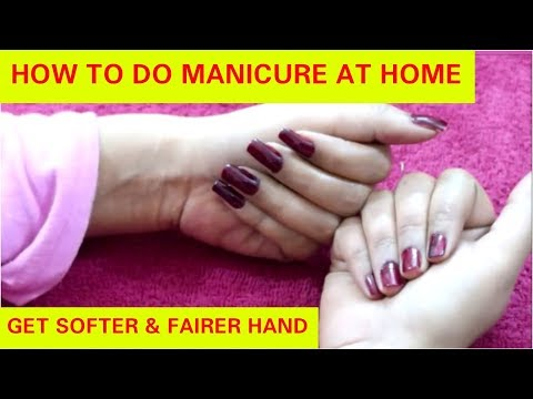 HOW TO PERFECT MANICURE AT HOME||STEP BY STEP| SALON STYLE
