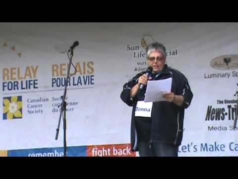 Relay For Life BLENHEIM 2013 – Chair Donna's OPENING COMMENTS and WELCOME