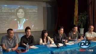 Các ca sĩ họp báo về hội Hoa Thiện Tâm và ca sĩ Hồ Lệ Thu (p1)