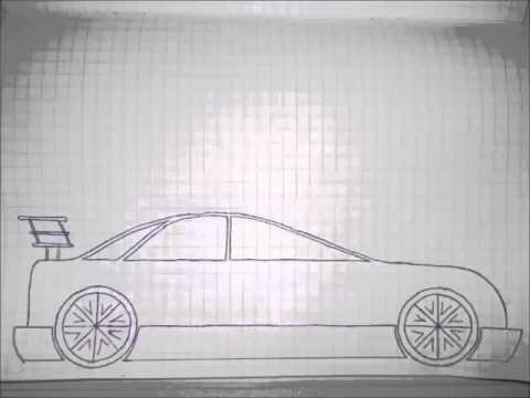 Видео как нарисовать красивую машину