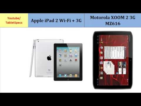 Apple iPad 2 3G to Motorola XOOM 2 MZ616, Full Specs Comparison