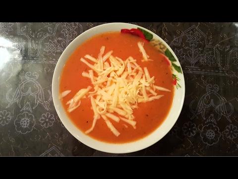 Domates çorbası. Томатный суп, турецкая кухня.