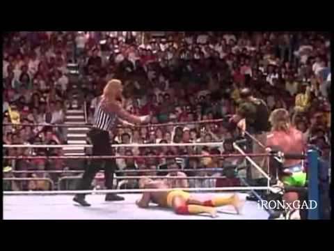 SummerSlam1991-Hulk Hogan & Ultimate Warrior vs Triangle of Terror 2/2 HighQuality