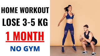 30 Minute Full Body Home Workout Lose 3-5 kG In MONTH in HINDI For Beginners, NO GYM, NO EQUIPMENT.