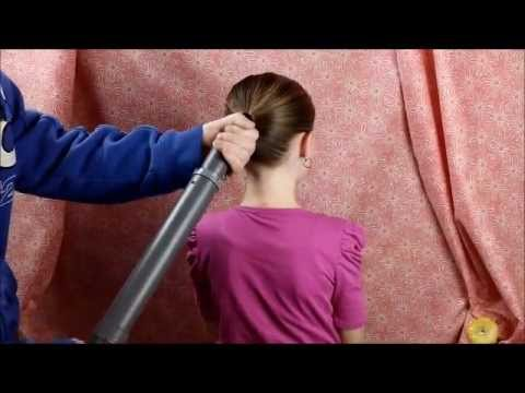 Как сделать хвостик пылесосом видео