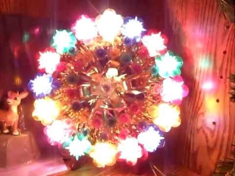 Christmas tree topper plaque- three-way flashing