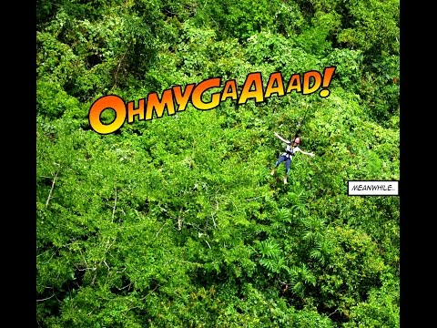 The Plunge / Free Fall drop @ Bohol, Philippines