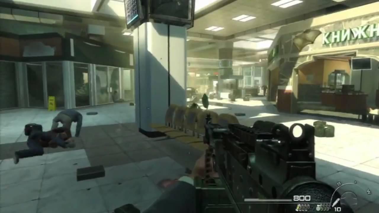 Call of Duty : Modern Warfare 2 запрещенная миссия в Аэропорту [HD-video]