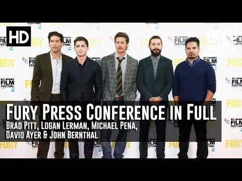 Fury Press Conference in Full - Brad Pitt, Shia LaBeouf, Logan Lerman, David Ayer