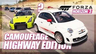 Forza Horizon 3 - Camouflage Highway Edition! (Mini Games & Random Fun)