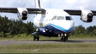 Express Air PK-TXP Dornier 328-110 landing at Domine Eduard Osok Airport in Sorong