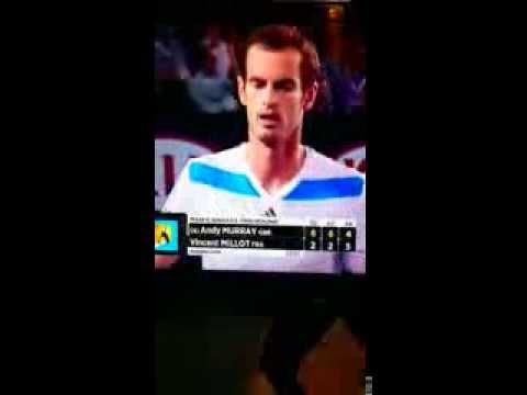 Andy Murray wins 23 points in a row - Australian Open