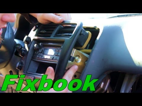 How to Remove Install Stereo & Retrieve Serial Number Honda Civic