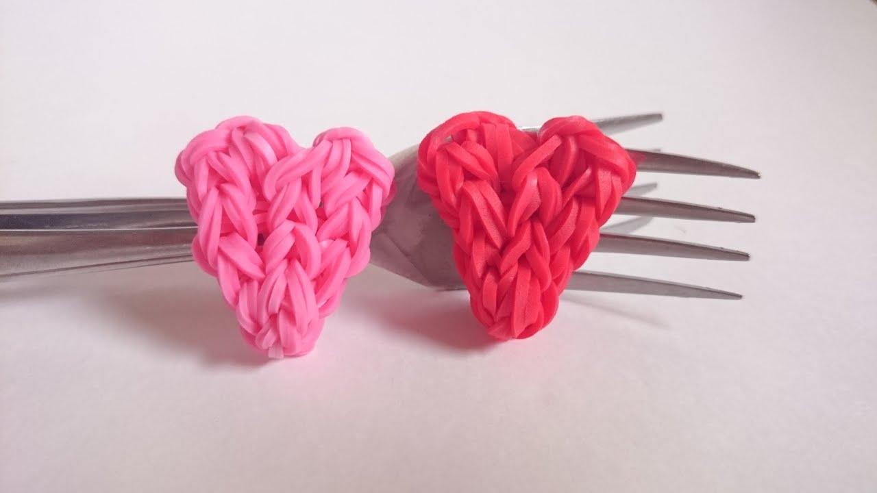 Что плетут из резинок в форме сердечек