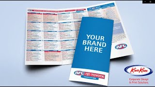 Official AFL fixture cards featuring your marketing message!