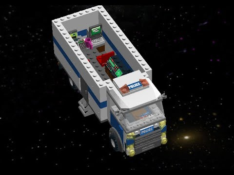 How to make Police Truck with Lego Digital Designer