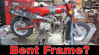 Worn out Honda Trail 70, wheels and frame repair, pt5