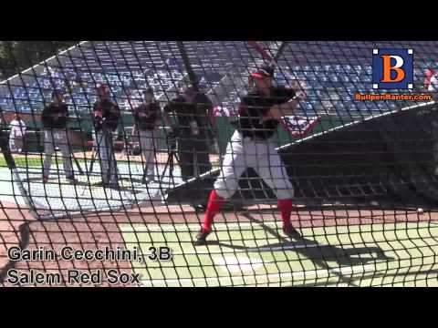 GARIN CECCHINI PROSPECT VIDEO, 3B, SALEM RED SOX #REDSOX