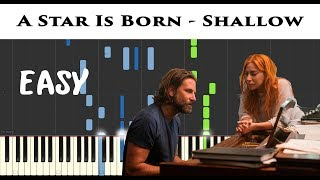 Lady Gaga & Bradley Cooper - Shallow (A Star Is Born) | Piano Tutorial + Sheet by James Morrison BCN