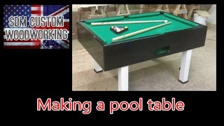 how i make a pool table (diy)