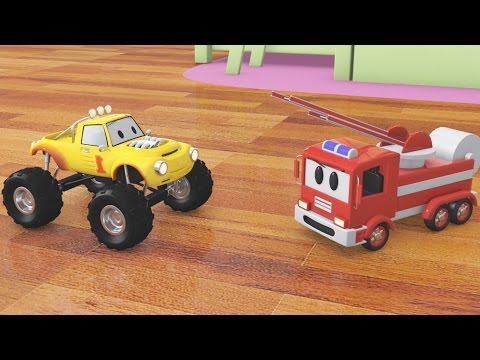 Пожарная машина и мини джип Лукас | мультфильм для детей на русском языке про машинки