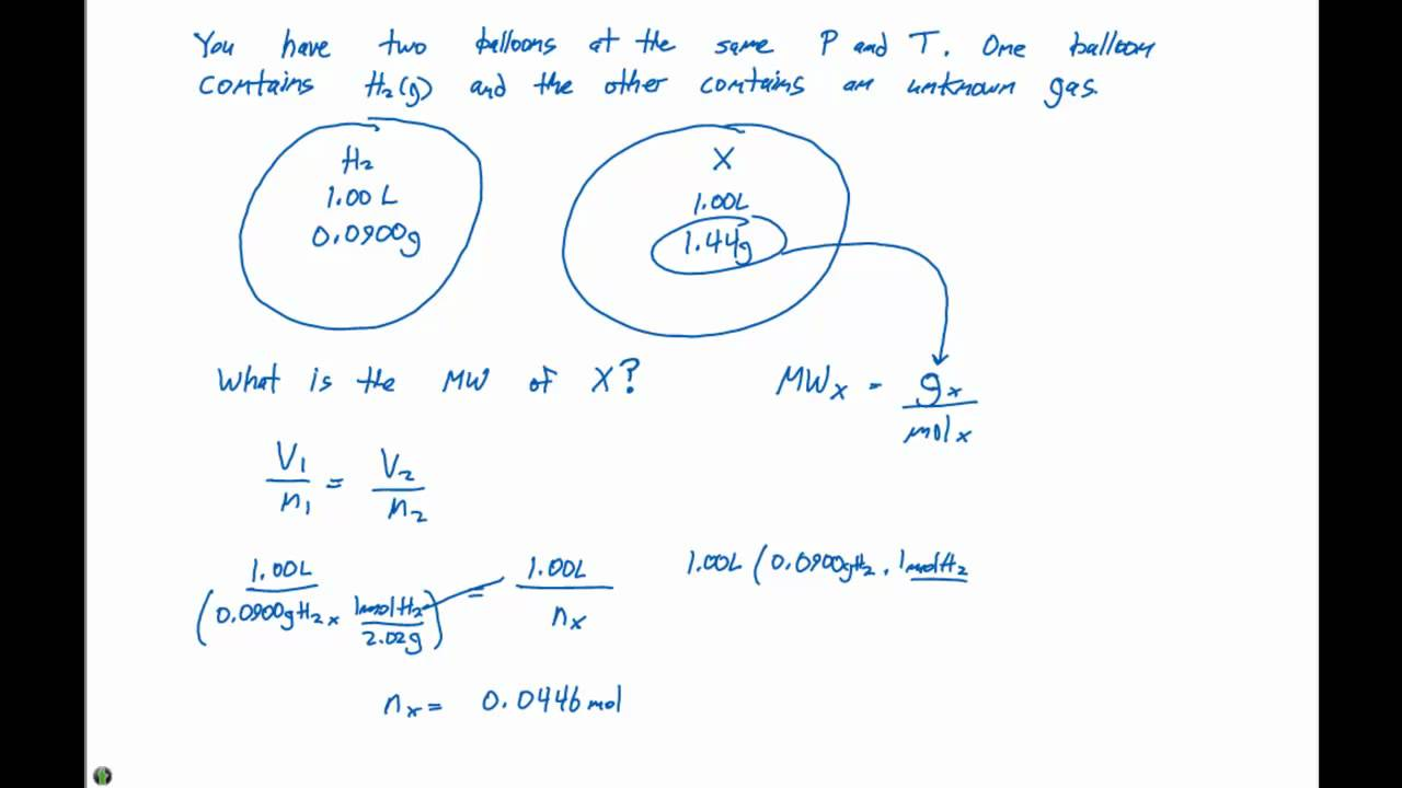 10.5 Ideal Gas Law Example Problem #1 - YouTube