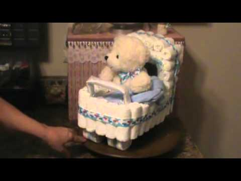 How To Make A Baby Shower Carriage Diaper Cake