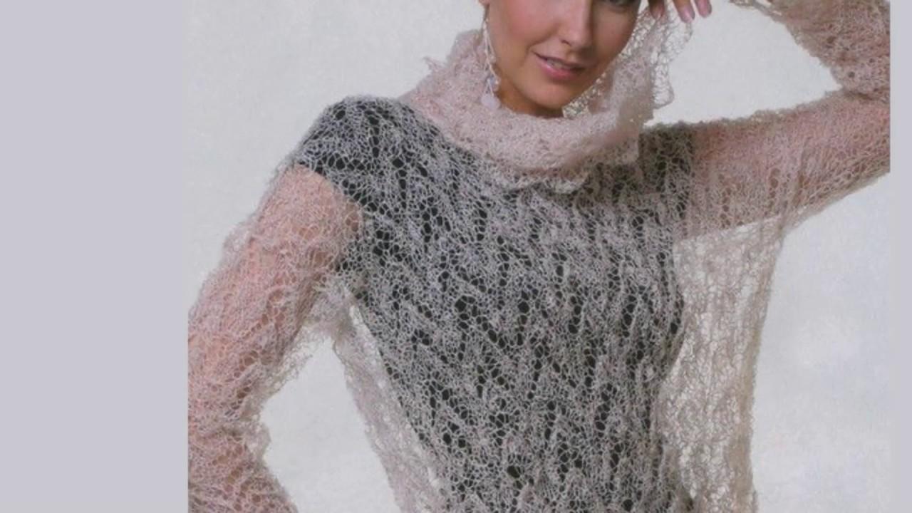 Вязание из мохера крючком для женщин оригинальные модели 53