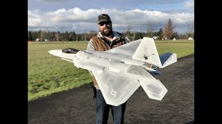 Freewing F-22 Raptor 90mm EDF Jet Maiden Flight! F22 Motion RC