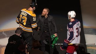 Conor McGregor drops first puck in Boston