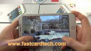 Goophone i9 quad core 5.7inch crazy android phone 3D Games Test