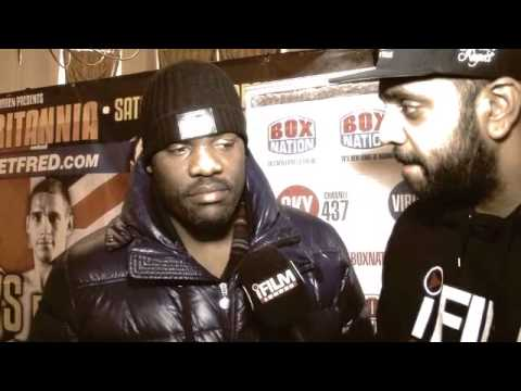 DERECK CHISORA ON PRICE, FURY & FIGHTING FOR THE 'RIGHT MONEY' / iFILM / RULE BRITANNIA PRESS CONF.
