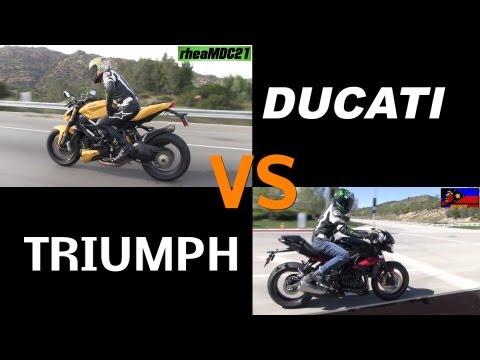 Ducati Street Fighter 848 VS Triumph Street Triple 675 R Comparison Review