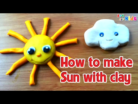 Clay art for kids | How to make sun with clay | Art for kids