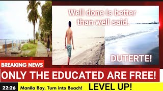 Bagsik Ni Duterte! Manila Bay level Up! Hindi Binabalita ng Media, Manila bay Update
