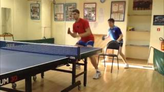 Table Tennis - footwork - exercises with a chair