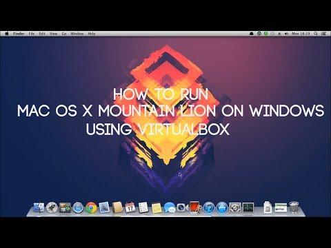How to install Mac OS X Mountain Lion on a PC - Using VirtualBox