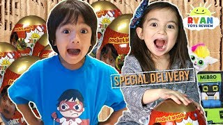 I MAILED MYSELF TO RYAN TOYSREVIEW in a BOX FORT to get the Golden Mystery Egg and It Worked! (Skit)