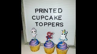 print then cut cupcake toppers with your Cricut